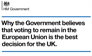 Propaganda or Prescience? UK Government advice on risks of leaving the EU.