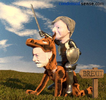 UK Prime Minister May and her little helper, headed for Brexit