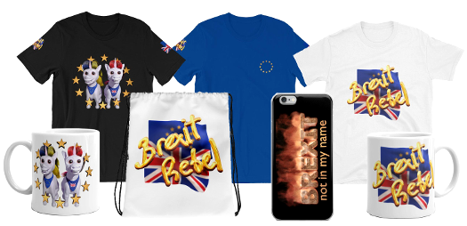 Examples of Brexit rebel merchandise